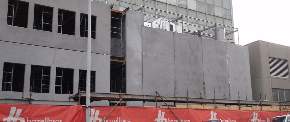 Royal Hobart Hospital Liverpool Street ICC infill building in construction