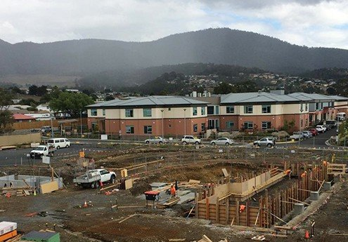 Barossa Park Hydrotherapy and Wellness Centre, Glenorchy Tasmania - in construction