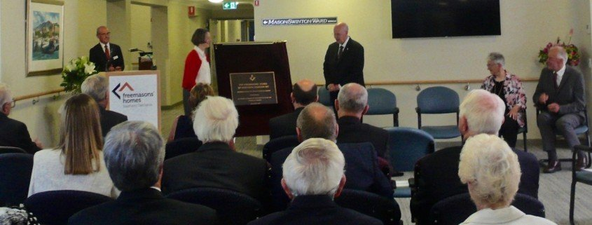Freemasons' Nursing Home, Lindisfarne - opening day
