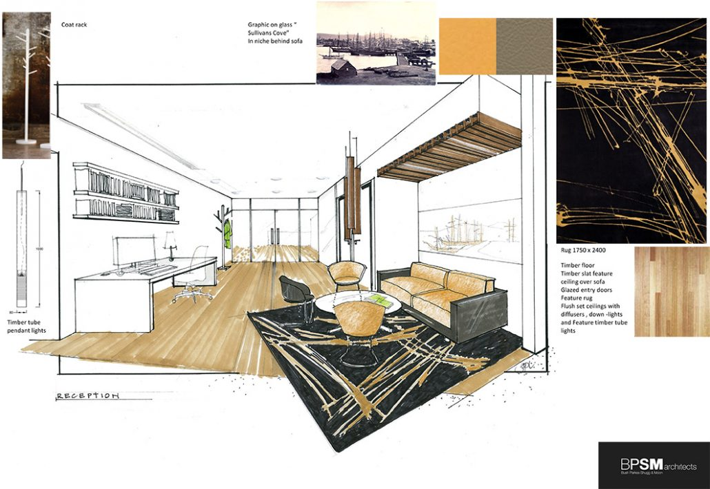 Concept Design And Materials E Board Interior Design
