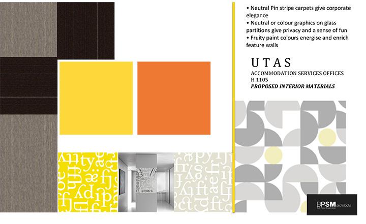 UTAS accommodation services materials e-board