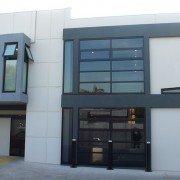 Caulfield Dermatology ext rear curved architectural wall narrow horizontal windows