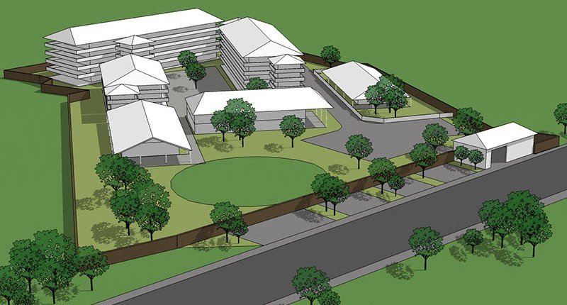 Pro bono education projects in India - 3D concept design sketch for Shalom School in Pratapgarh