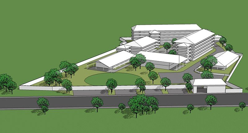 Pro bono education projects in India - 3D concept design sketch for Shalom School in Pratapgarh