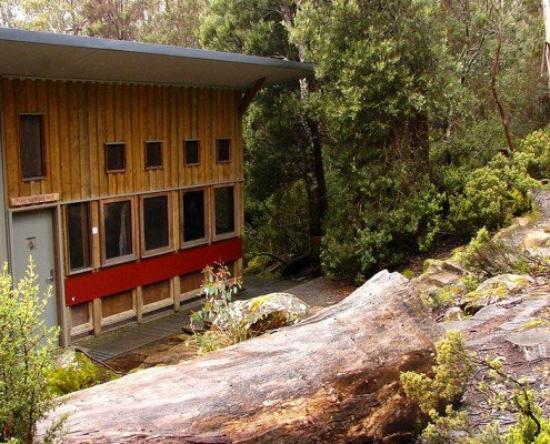 Windy Ridge Walkers Hut, Overland Track, Tasmania - front entrance