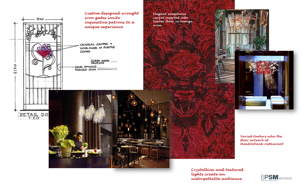 Winebar interior design concept e-board