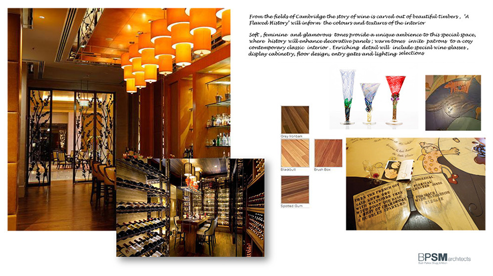 Winebar interior design concept