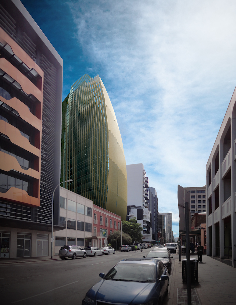 Datong 3D concept sketch design for Waymouth Street, Adelaide design competition