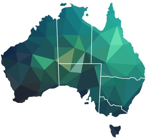 BPSM Architects Geo State Map of Australia
