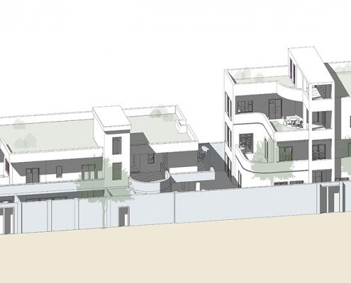 Pro bono education projects in India - 3D concept design sketch CFI Agra Building