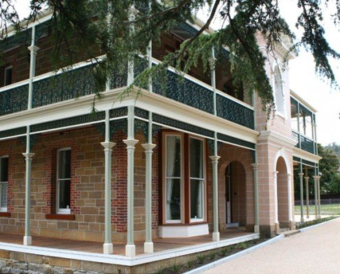 Heritage renovation and restoration, Wirksworth House, Bellerive, Tasmania grand exterior