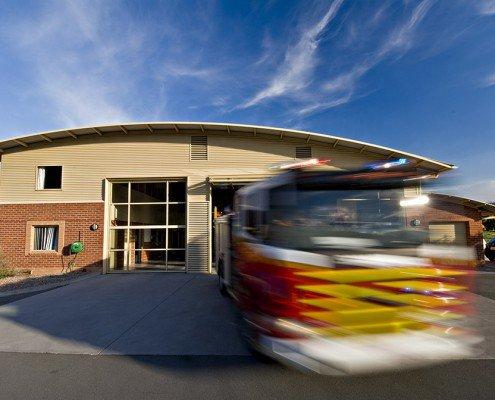 Mornington Fire Station moving fire truck