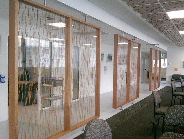 Royal Hobart Hospital A Block Oncology Clinic - biomimetric dividing panels