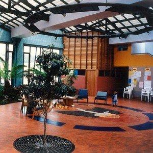 Tasmanian Aboriginal Centre, Launceston - interior courtyard