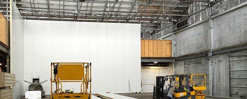 Tasfresh freezer compartment internal construction, Moonah, Tasmania