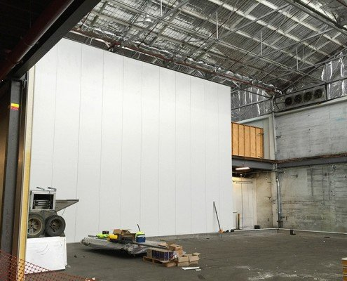 Tasfresh freezer compartment internal construction, Moonah, Tasmania