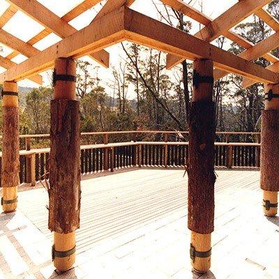 Cradle Mountain Visitors Centre deck