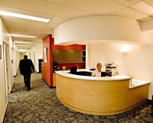 Royal Hobart Hospital Infill Building - internal reception desk