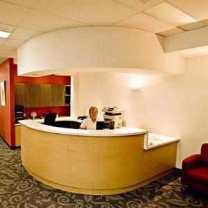 Royal Hobart Hospital internal Reception Desk