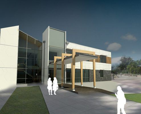 Kingston Health Centre Entry View Environmentally Sustainable Design