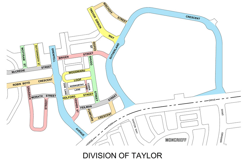 Division of Taylor Street Map Bill Shugg honoured