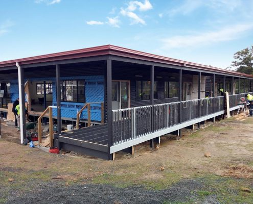 Eastside Lutheran College transportable classroom under construction