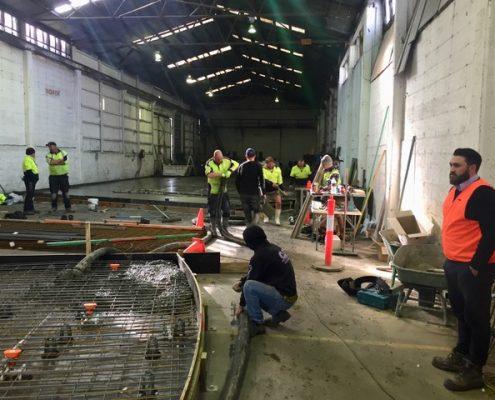 Mt Mawson offsite concrete pour