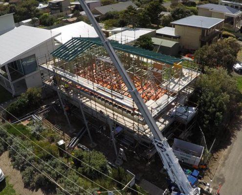 Aldinga Beach, Beach House, South Australia - steel raise