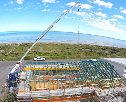 Aldinga Beach, Beach House, South Australia - steel raise