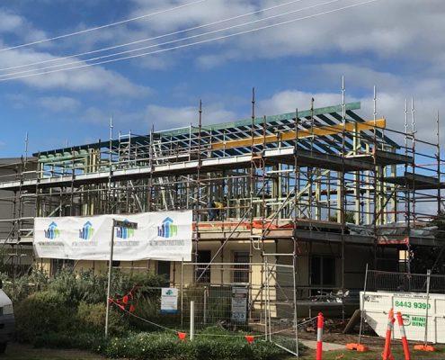 Aldinga Beach, Beach House - steel raise