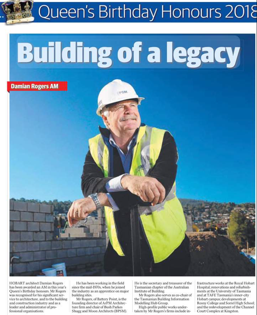 Damian Rogers AM Awarded Order of Australia_The Mercury news article