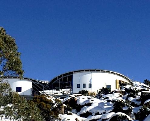 Remote, alpine ski hut_Mt Mawson in construction_Mt Field National Park, Tasmania