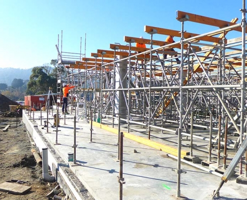 Kingston Community Health Centre_prepping for walls and internal structure