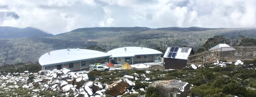 Mt Mawson Day shelter external view from above