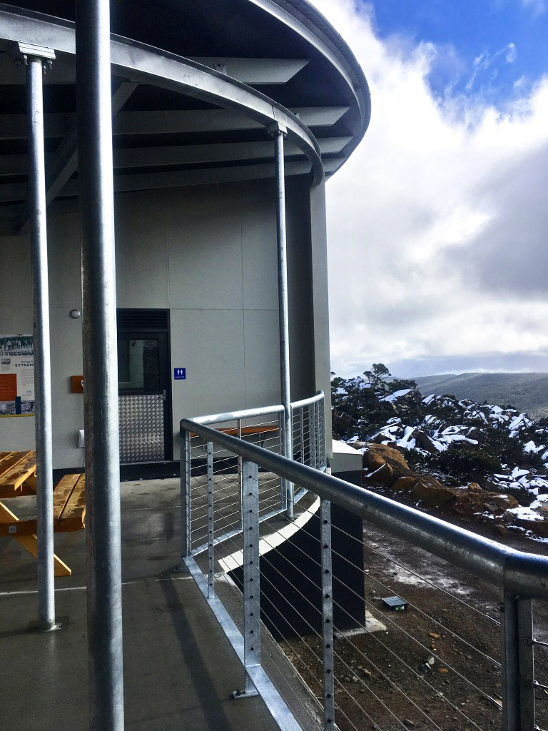 Mt Mawson Day Shelter looking out to the wilderness