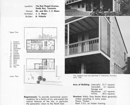 Tasmanian Residental Design Award 1966 Bornholm