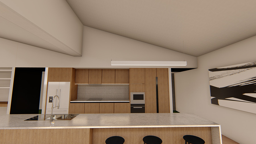 3D Renders and visualisation example project_apartment kitchen