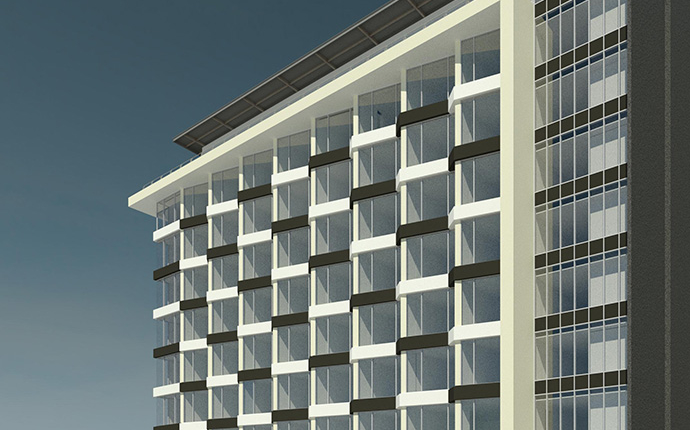 3D Renders and visualisation example project_hotel