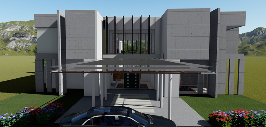 3D Renders and visualisation example project_residence
