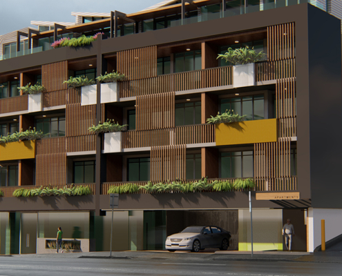 Burnett Street Apartments 3D render