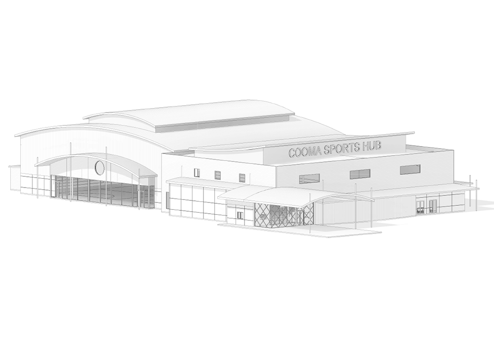 Cooma Sports Hub, NSW draft sketch