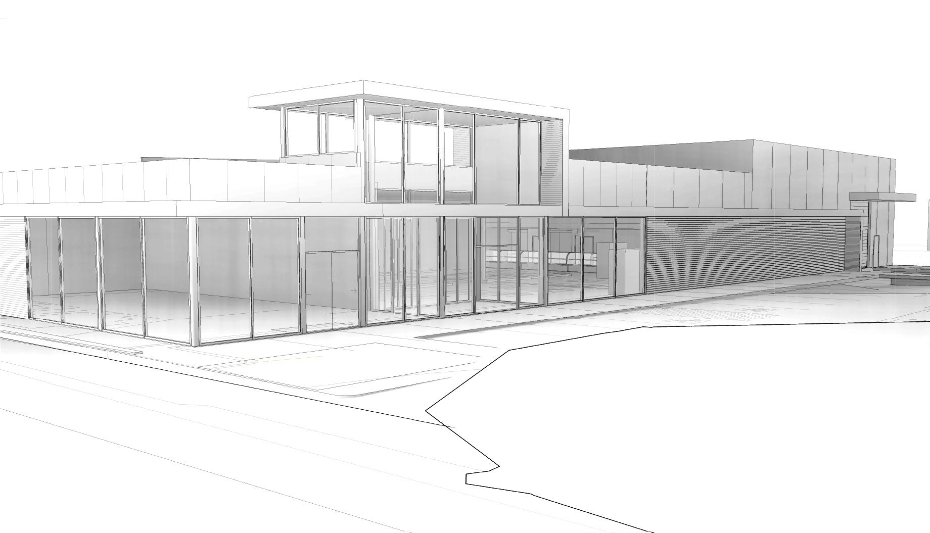 Salamanca Fresh supermarket redevelopment in Bellerive, Tasmania - sketch design