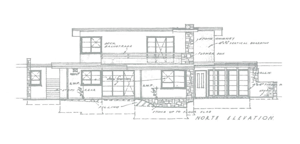 144 Strickland Ave, South Hobart - Sketch by BPSM Architect Garf Haslock, 1946