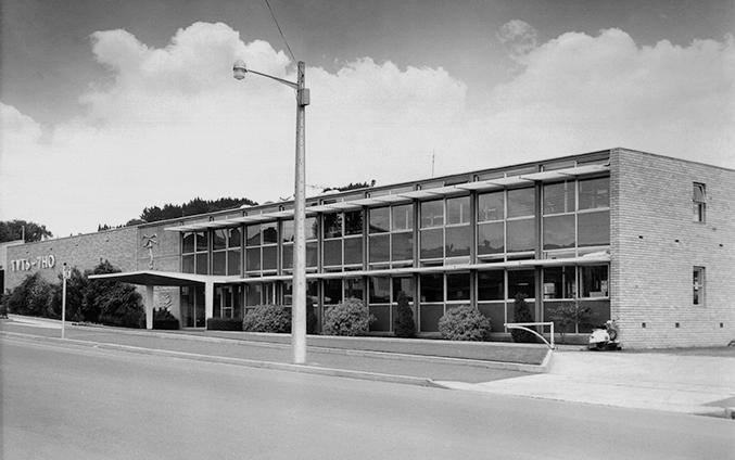 TVT6 & 7HO Station, 1959 - BPSM Architects, bronze sculpture by Stephen Walker