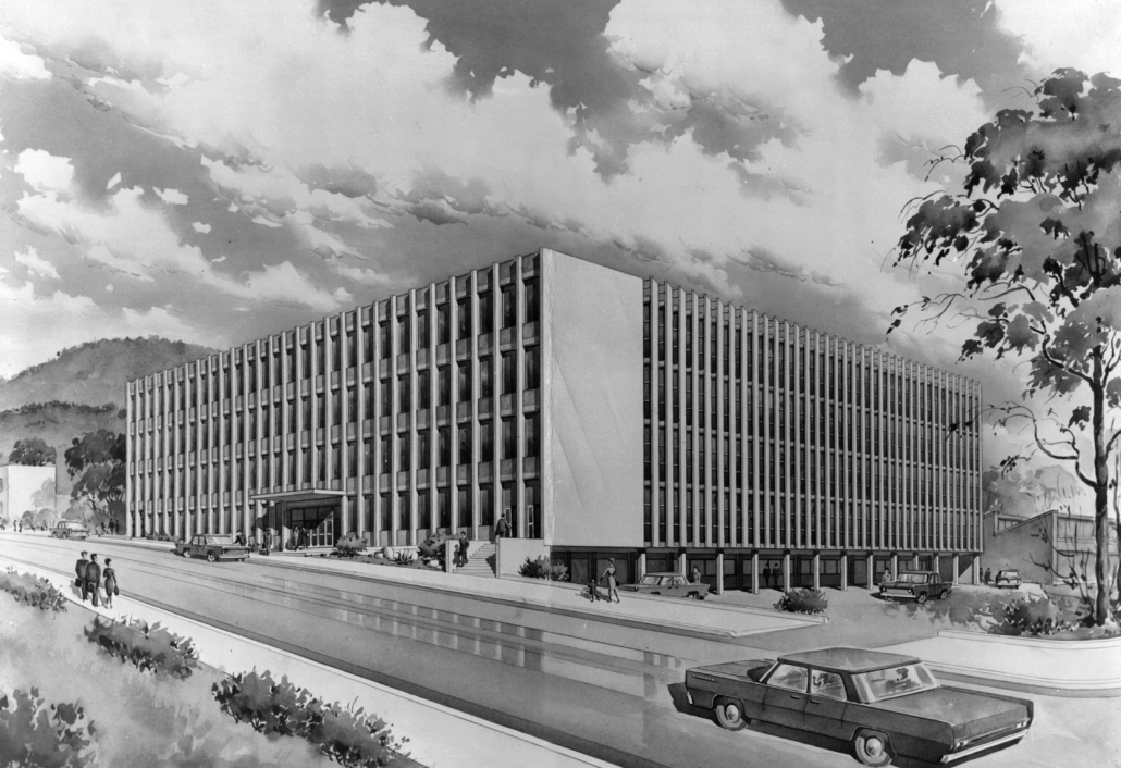Technical College, 1960, Hobart - BPSM sketch