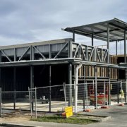 Salamanca Fresh, Bellerive - exterior of local Hobart supermarket in construction